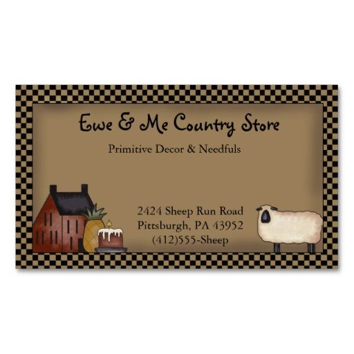 A very primitive country business card featuring a burgundy red a very primitive country business card featuring a burgundy red saltbox house grouping with colourmoves