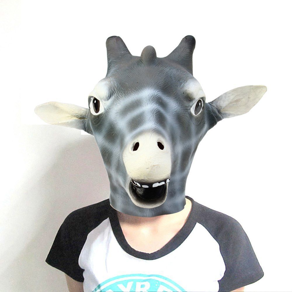 Halloween Giraffe Style Silicon Animal Costume Party Mask Horse ...