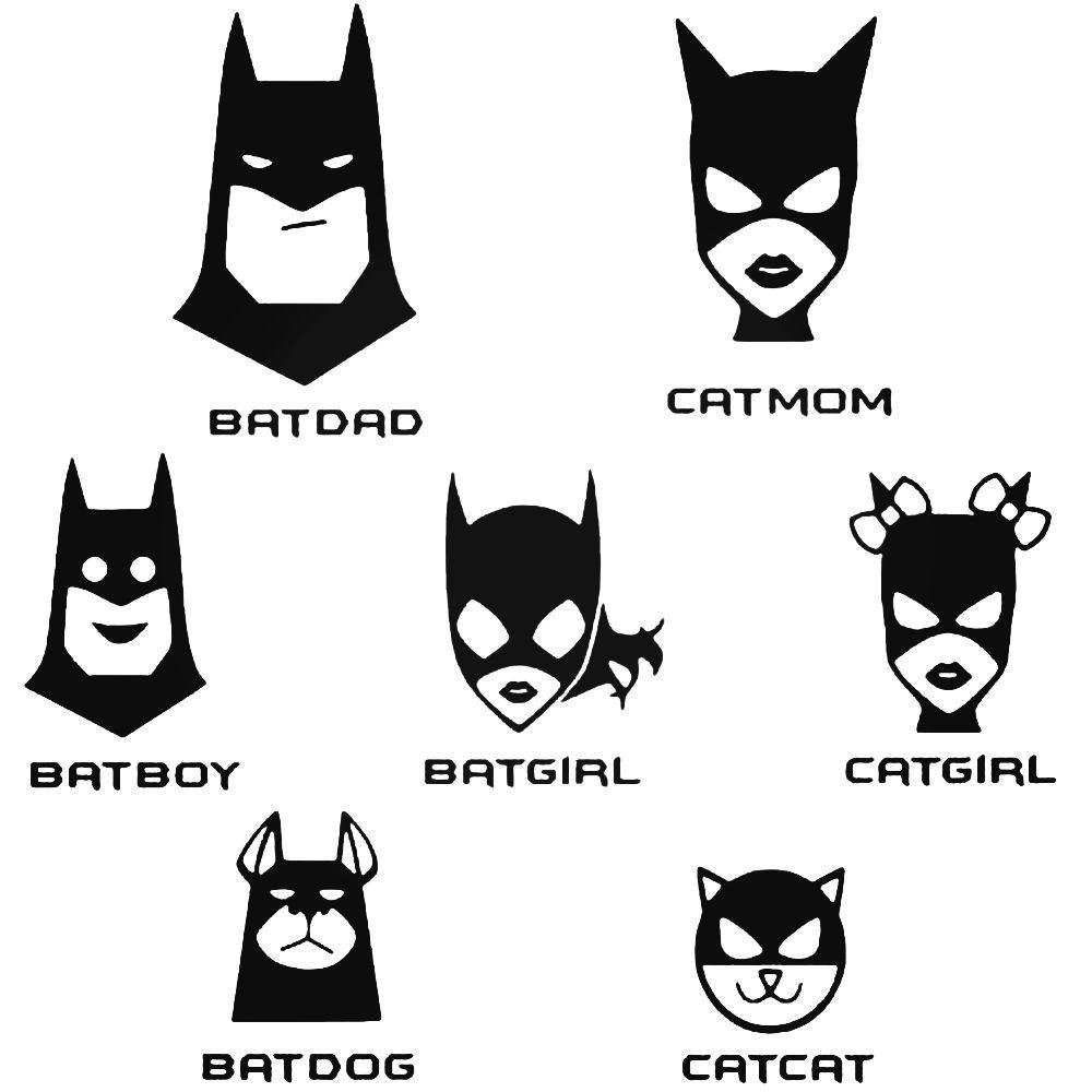 Batman Stick Family Decal Sticker BallzBeatz . com