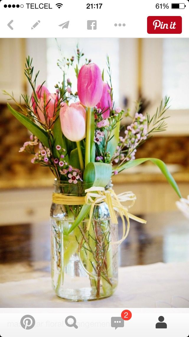 Beautiful Country Wedding Flowers: Wedding Table Decor, Pinks And Tulips
