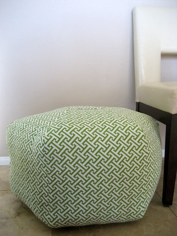 24 Ottoman Pouf Floor Pillow Waverly Cross Section by aletafae ...