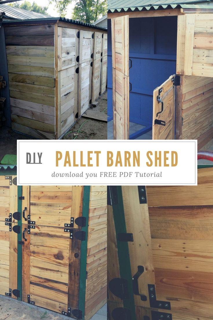 DIY PDF Tutorial Pallet Barn Shed • 1001 Pallets • FREE ...