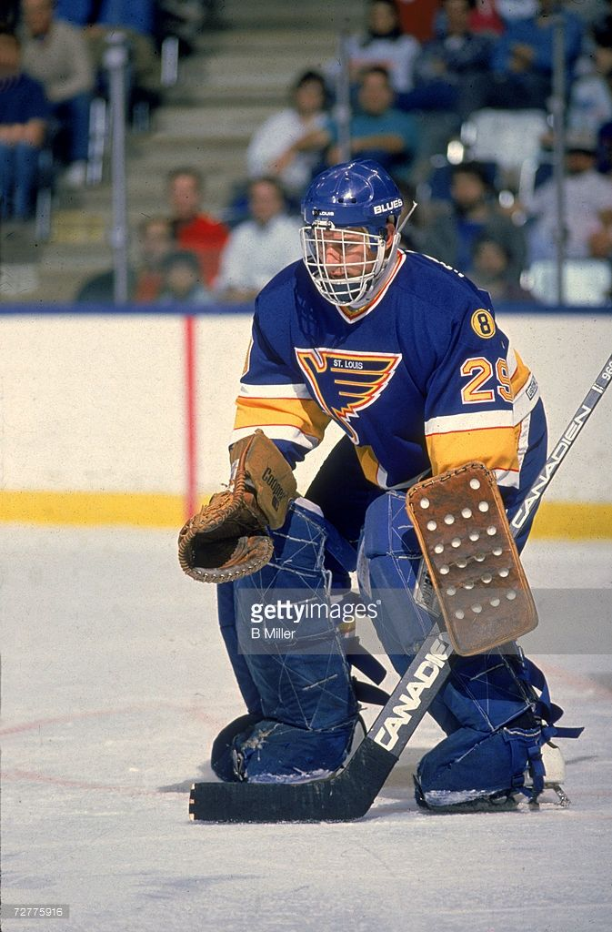 Canadian Ice Hockey Player Greg Millen Goalkeeper For The St Louis Picture Id72775916 673 1024 St Louis Blues Hockey St Louis Blues Goalies Ice Hockey