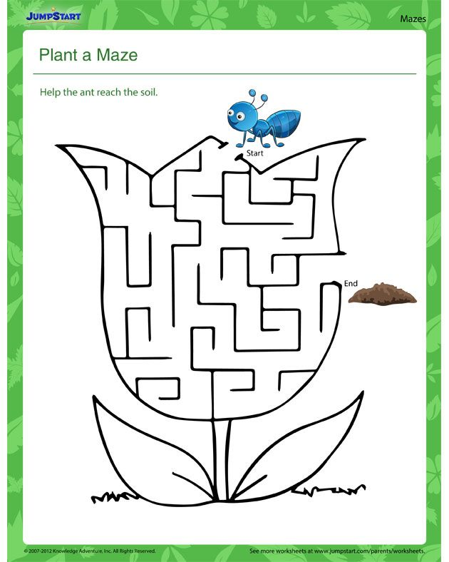plant a maze free science worksheet worksheets activities worksheets for kids. Black Bedroom Furniture Sets. Home Design Ideas