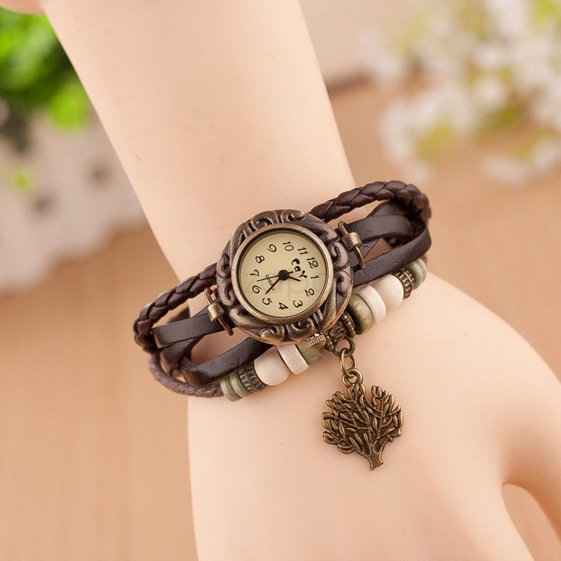 Tree Pendent Metal Chain Bracelet Watch Classic Design Girls ...