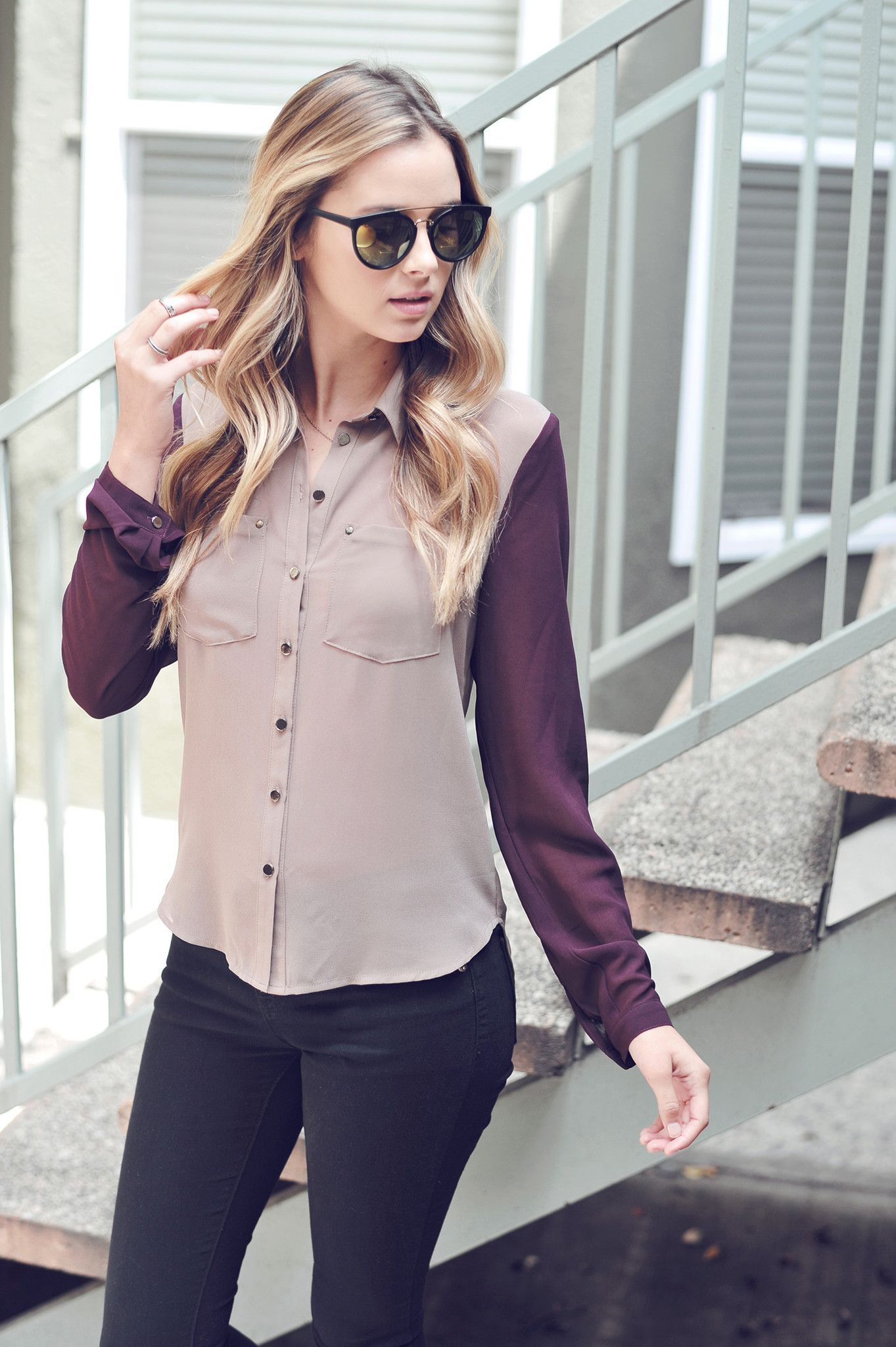 The Boomerang Purple Long Sleeve Top