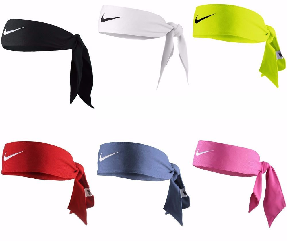 Details About Brand New W Tags Authentic Nike Dri Fit Head Tie Headbands Low Price Nike Tie Headbands How To Wear Headbands Nike Headbands