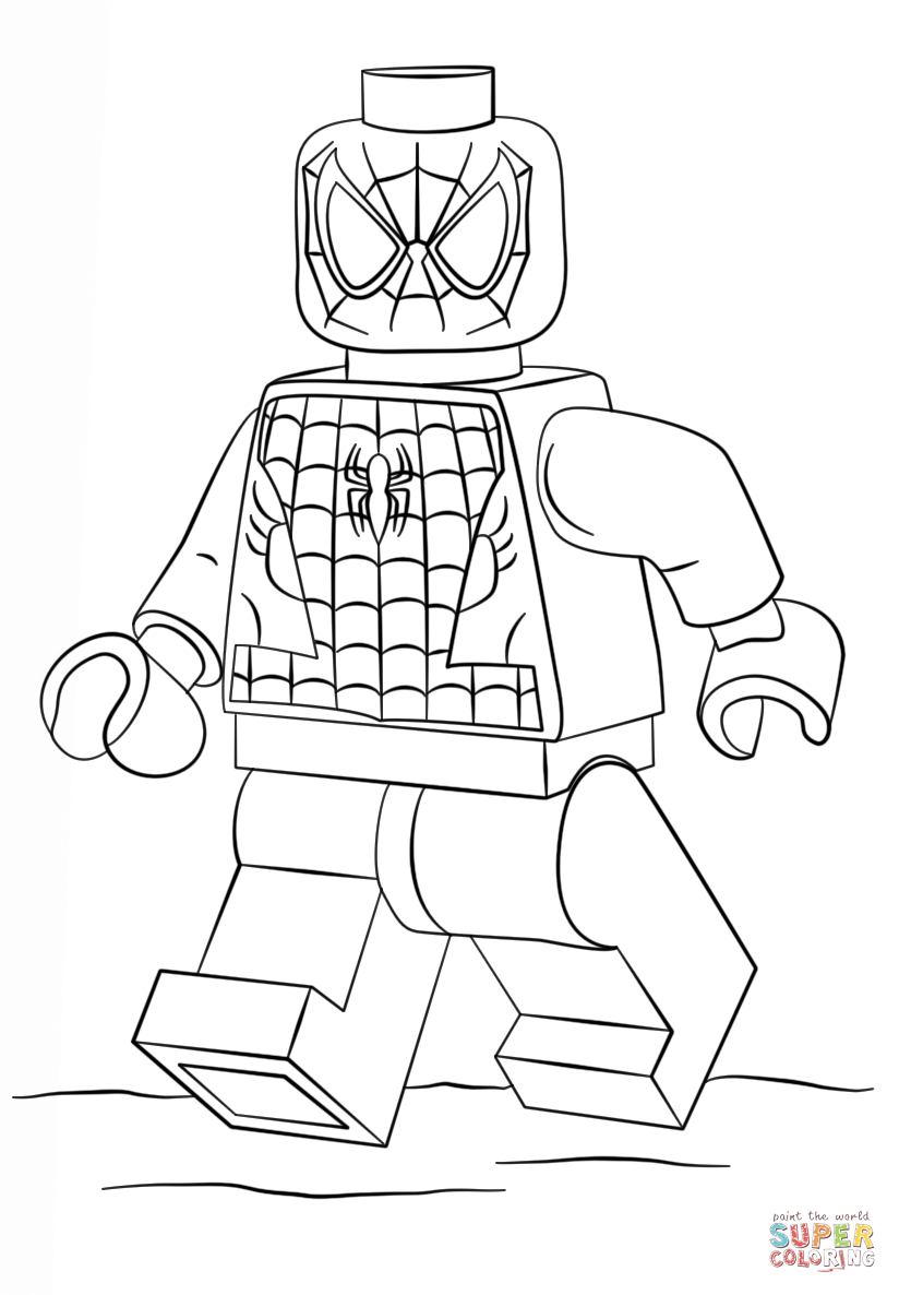 Lego Spiderman  Super Coloring  Art club ideas  Pinterest