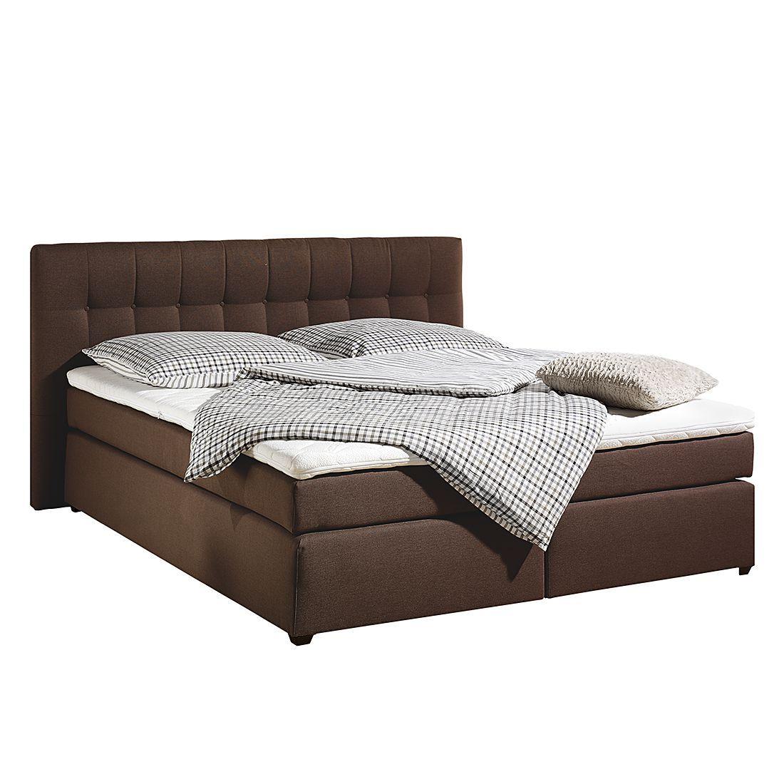 boxspringbett jean inklusive topper strukturstoff 160 x 200cm h3 ab 80 kg. Black Bedroom Furniture Sets. Home Design Ideas