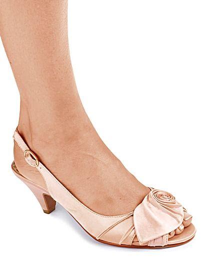 4dd95209a3 Joanna Hope Slingback Shoes Wide E Fit | Get hitched | Slingback ...