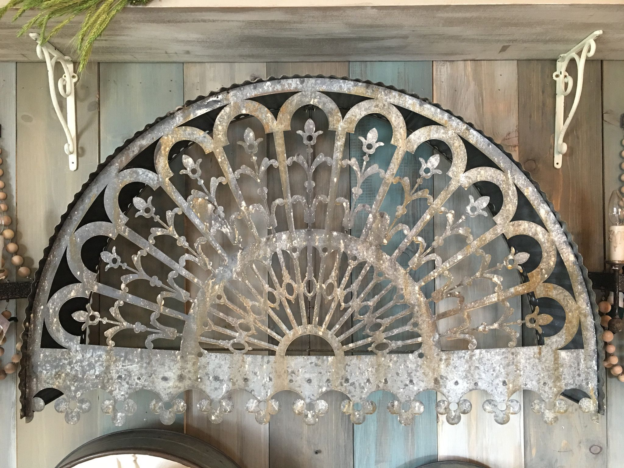 Metal Arch Wall Decor Filigree Arched Relic Is Constructed Of An Aged Galvanized Metal