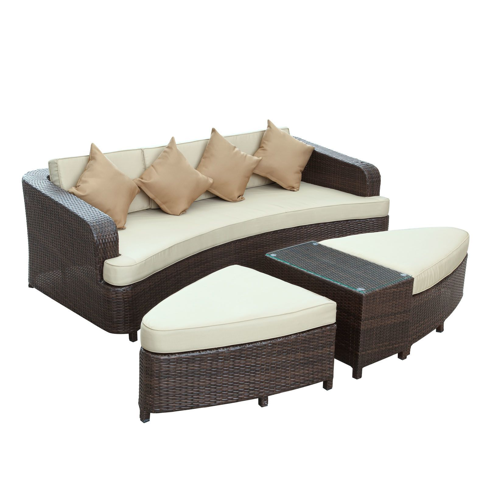Monterey 4 Piece Deep Seating Group with Cushions I