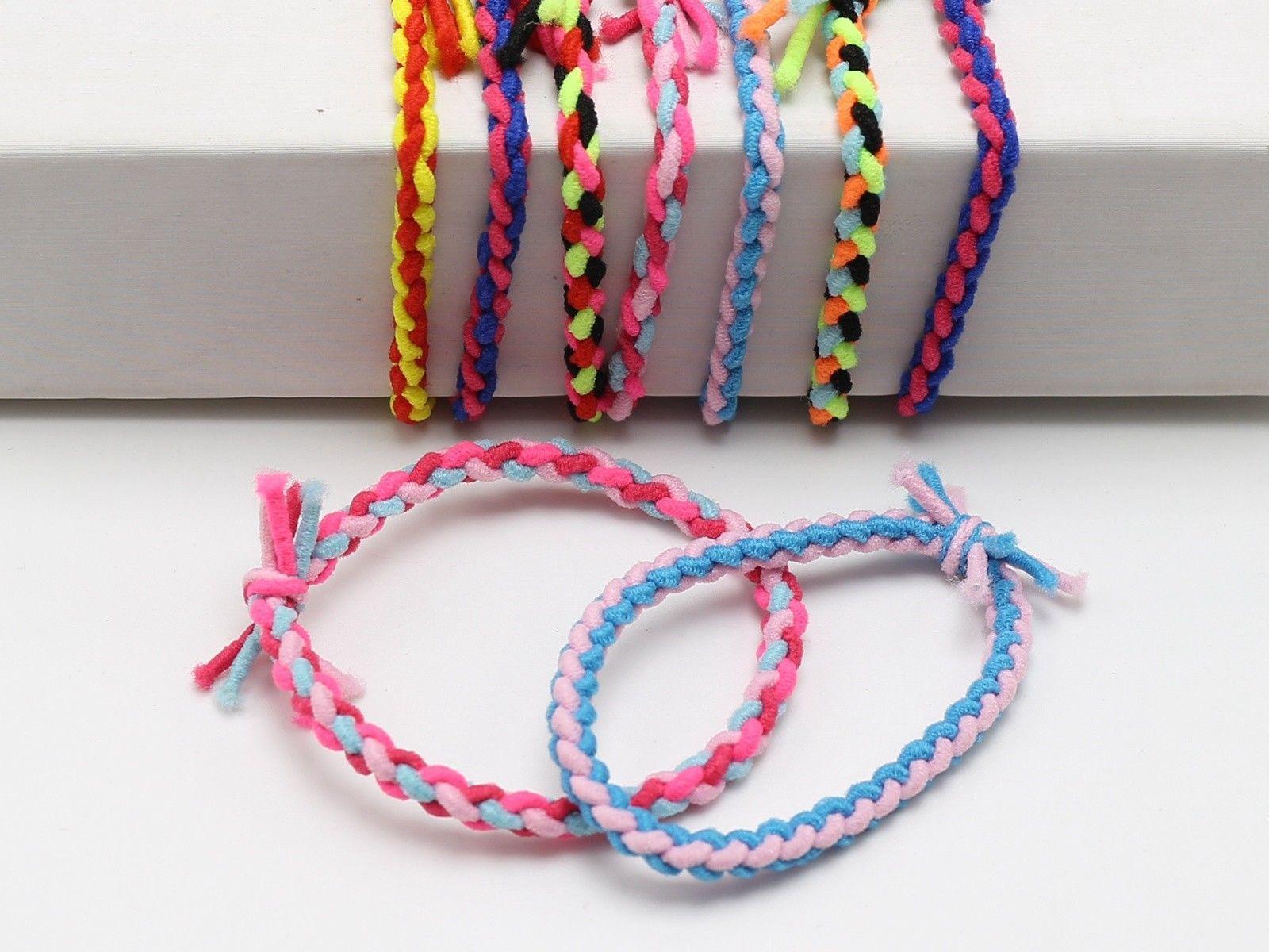 30 Multi Color Elastic Rope Braided Ruber Hair Tie Hair Bands Ponytail Holder Rope Braid Elastic Rope Hair Ties