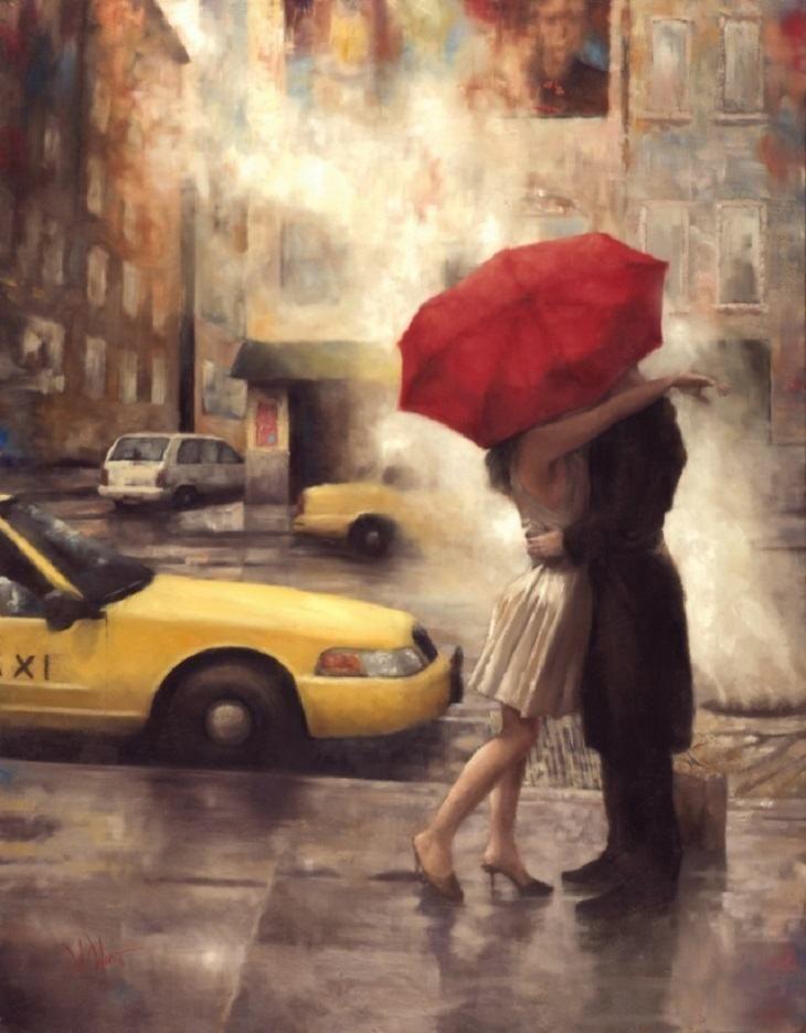 pinturas amor | Arte | Pinterest | Paraguas rojo, Pinturas ...