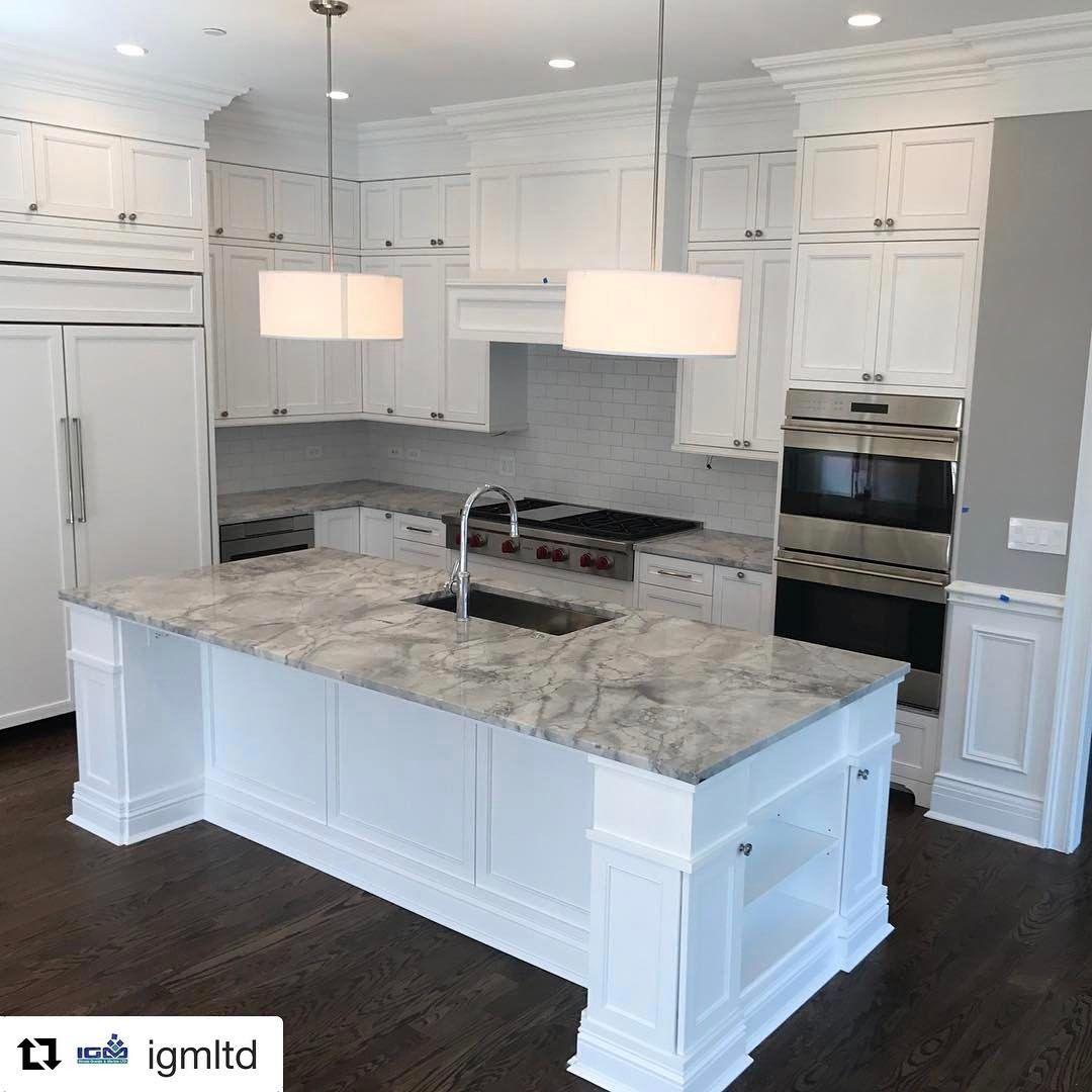 White Kitchen Cabinets Granite Countertops: #Repost @igmltd Super White Quartzite From @LevantinaChi