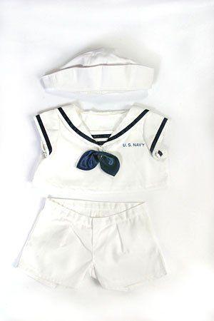 9fd4582e1d7 US Navy Uniform Outfit Teddy Bear Clothes Fit 14