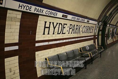 Hyde Park Corner Underground station.