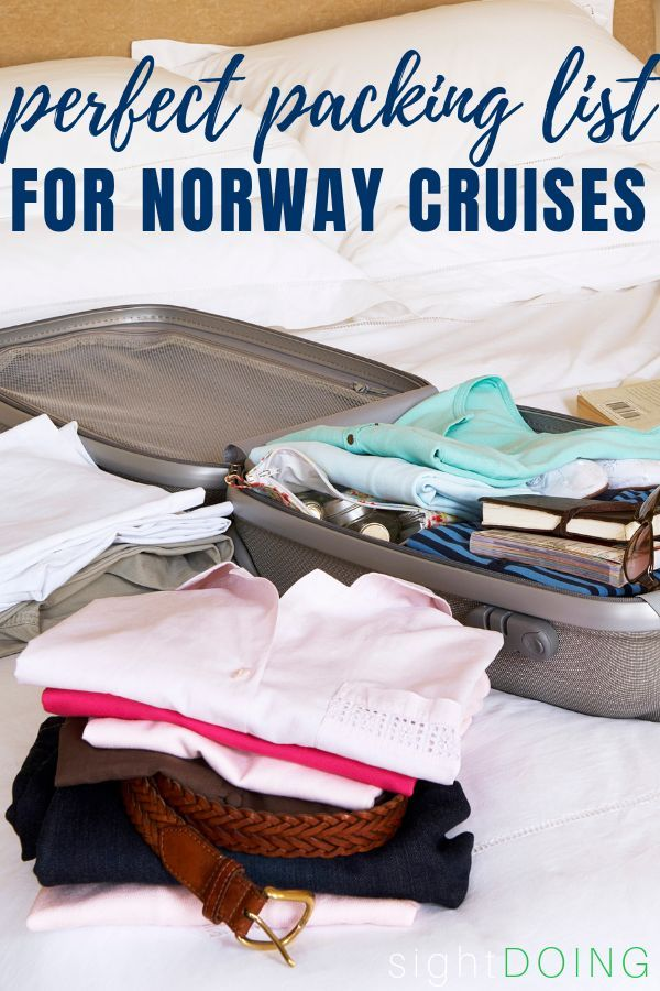 Bring Exactly What You Need with this Norway Cruise Packing List #summercruiseoutfits