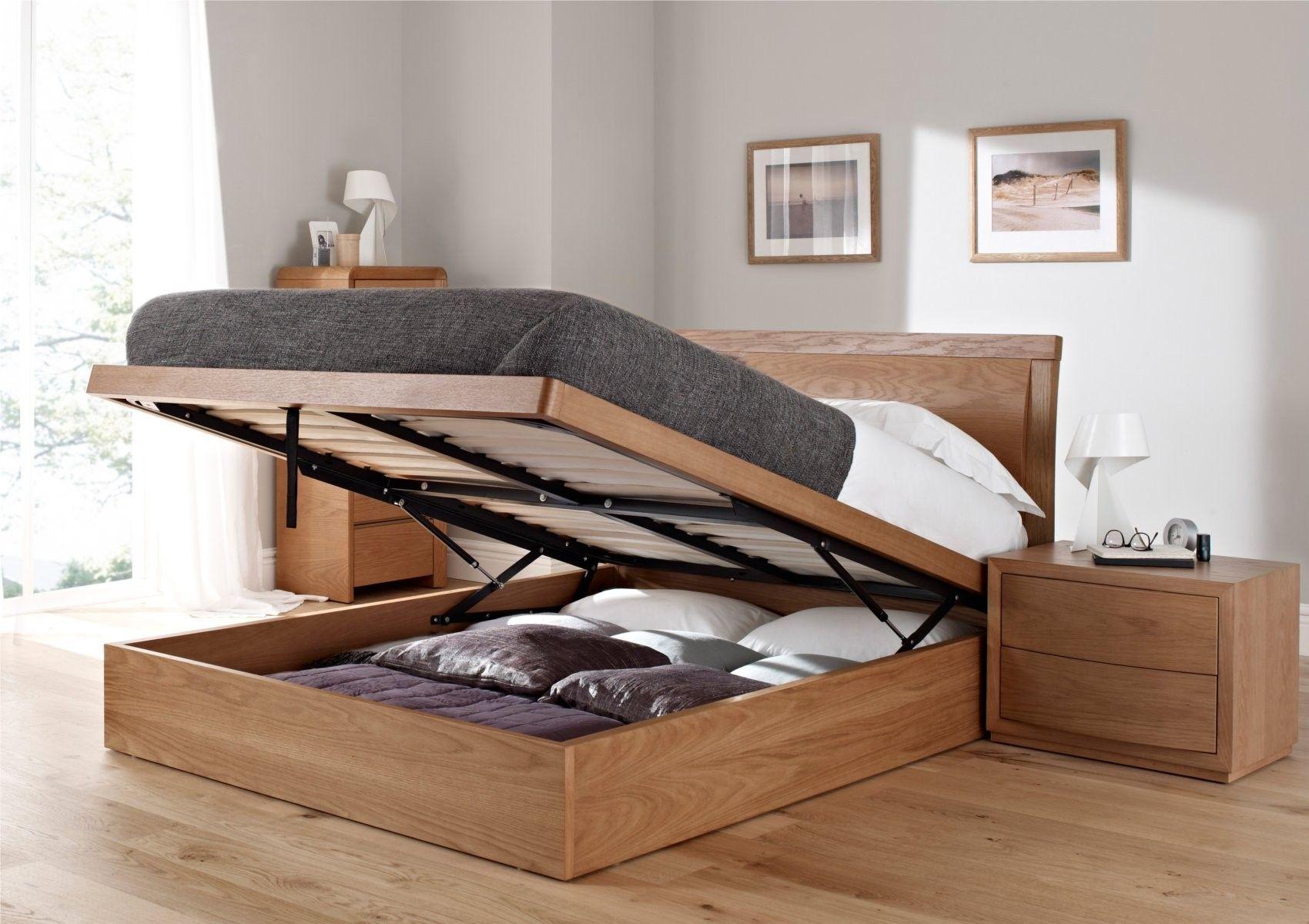 Arran Oak Ottoman Storage Bed
