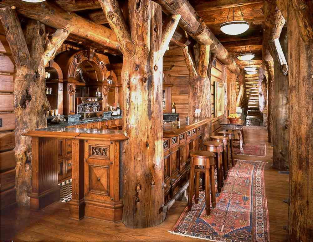 Best 25 rustic bars ideas on pinterest rustic basement for Rustic lodge