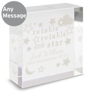 Personalised woodland animals glass block glass blocks and babies baby glass block gifts home shop negle Image collections
