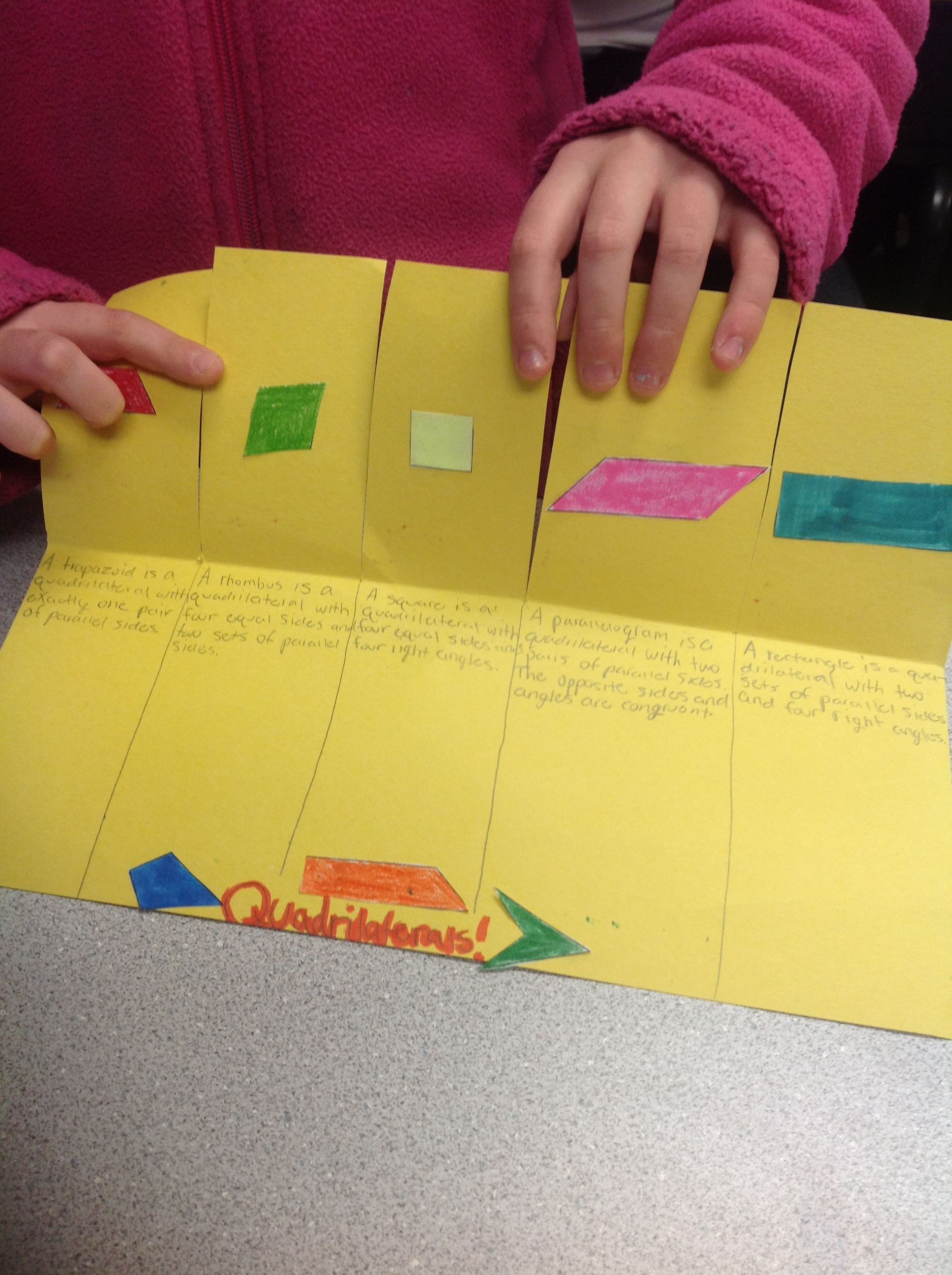 Quirky Quadrilaterals Great Hands On Activity Students