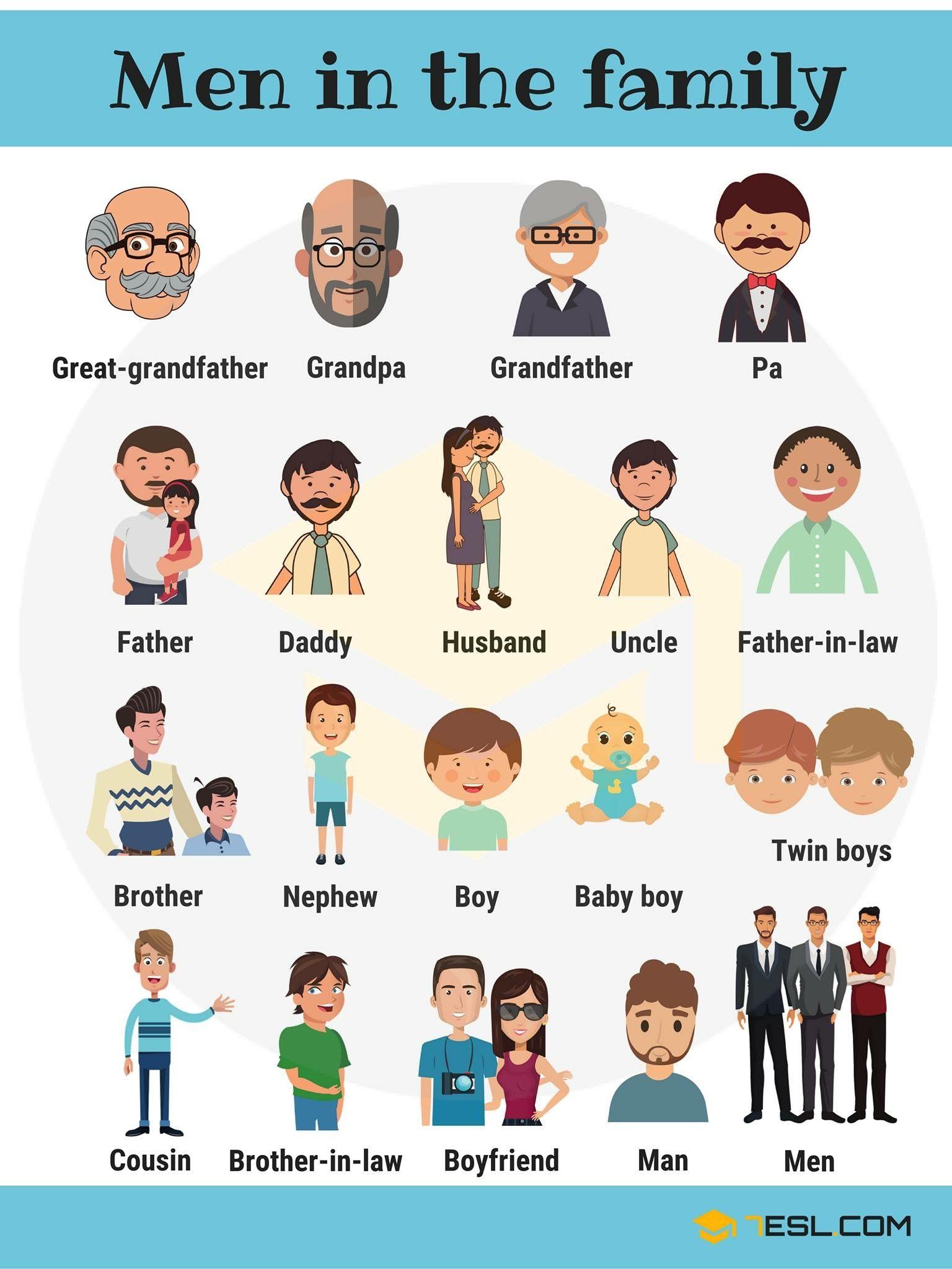 Vocabulario Miembros Masculinos De La Familia