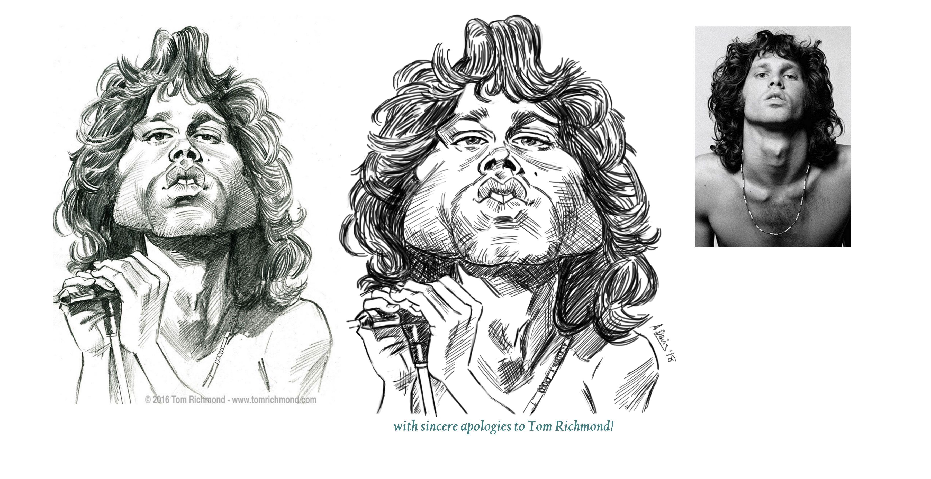 My study of Richmond's Jim Morrison caricature