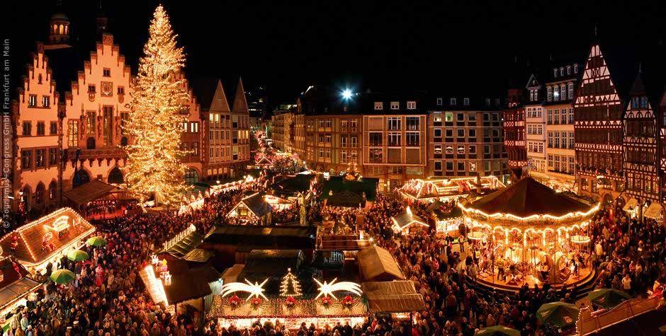 Christmas Market in Frankfurt , Germany