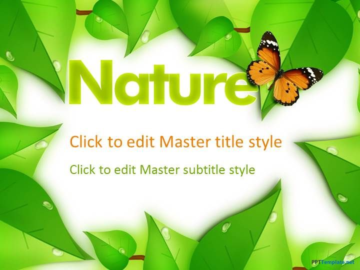 Free microsoft powerpoint templates 40 cool microsoft a light and bright background about nature is always helpful in promoting positivity and encouraging children through free nature ppt template for iwork toneelgroepblik Image collections
