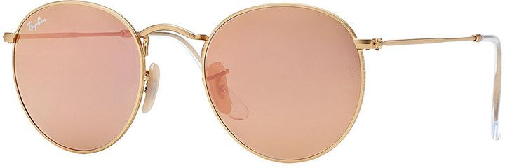 494c37cf2 Ray-Ban Round Metal-Frame Sunglasses with Pink Lens | + COVET + ...