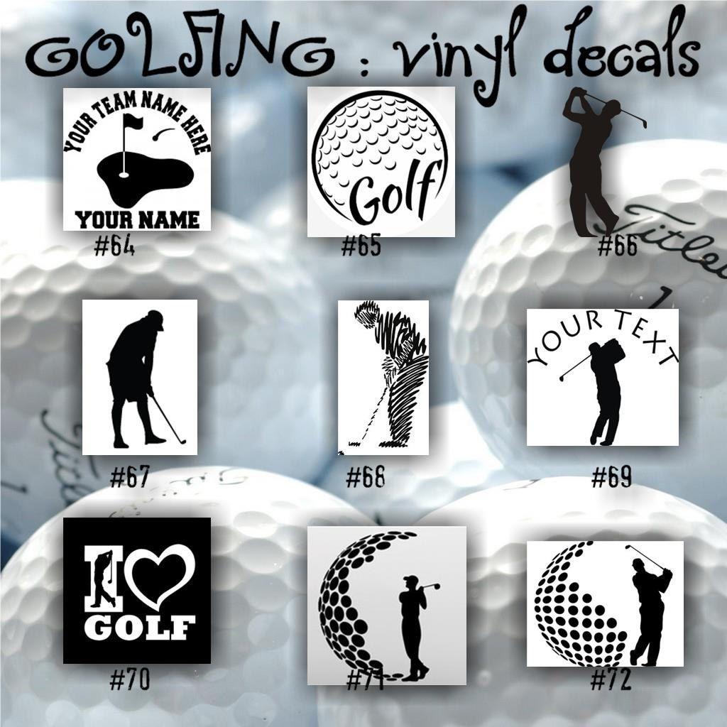 GOLF Vinyl Decals Golfing Sticker Golfer Decal Car Window - Custom vinyl decals car windows