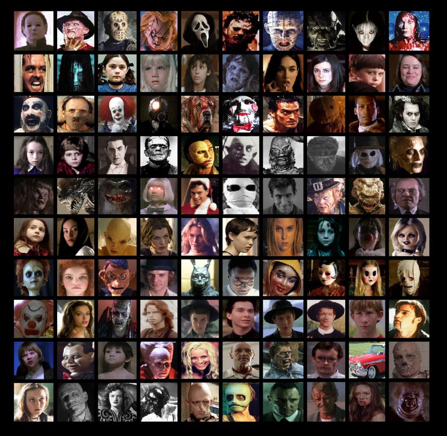 100 Horror Movie Characters by Otaku-Mookers on deviantART | I ...