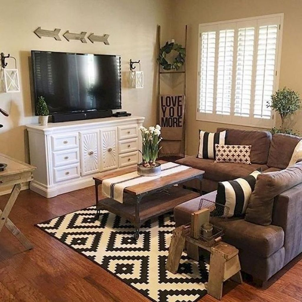 46 Popular Living Room Decor Ideas With Farmhouse Style images