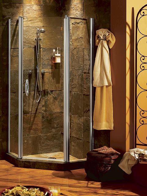 corner showers for small bathrooms | Bathroom corner showers ...