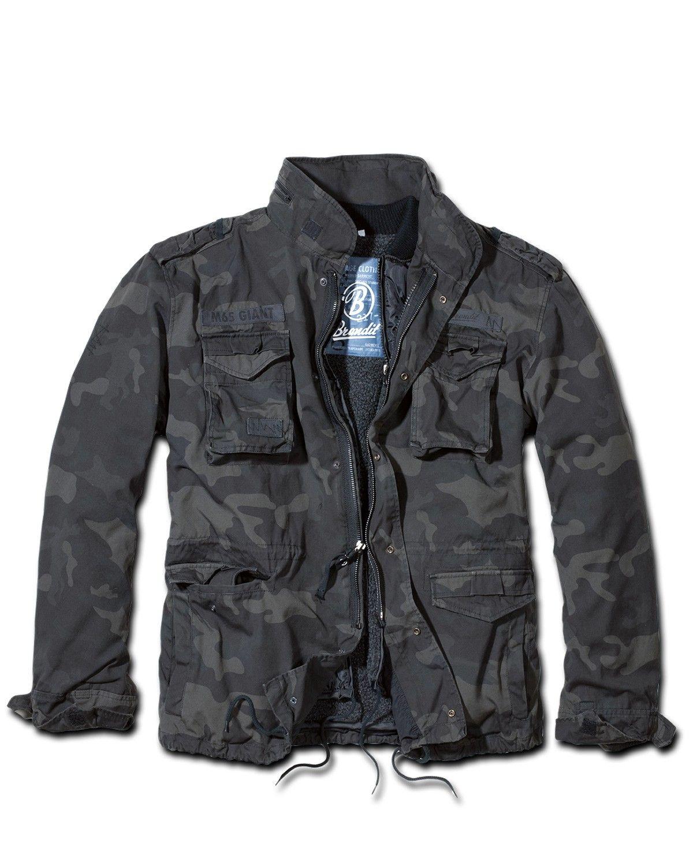 Brandit M65 Giant Jacket Black Camo  24f744a7614