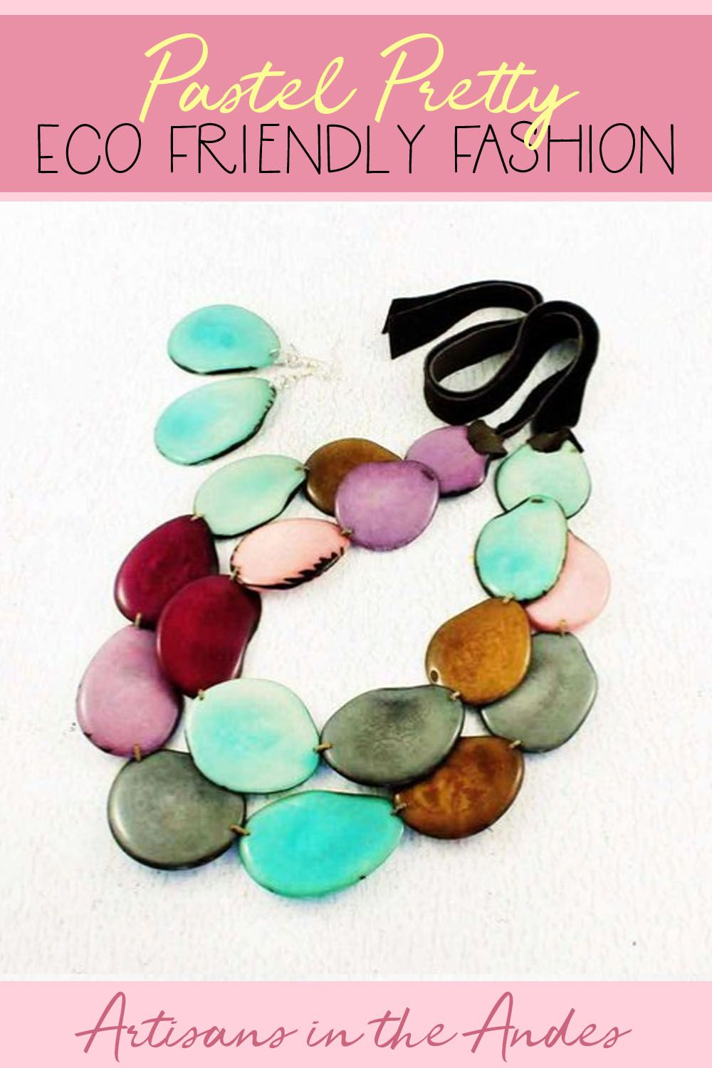 Chunky Bangle for Her Artisan Handmade and Fair Trade Multi Colored Wide Tagua Bracelet for Women
