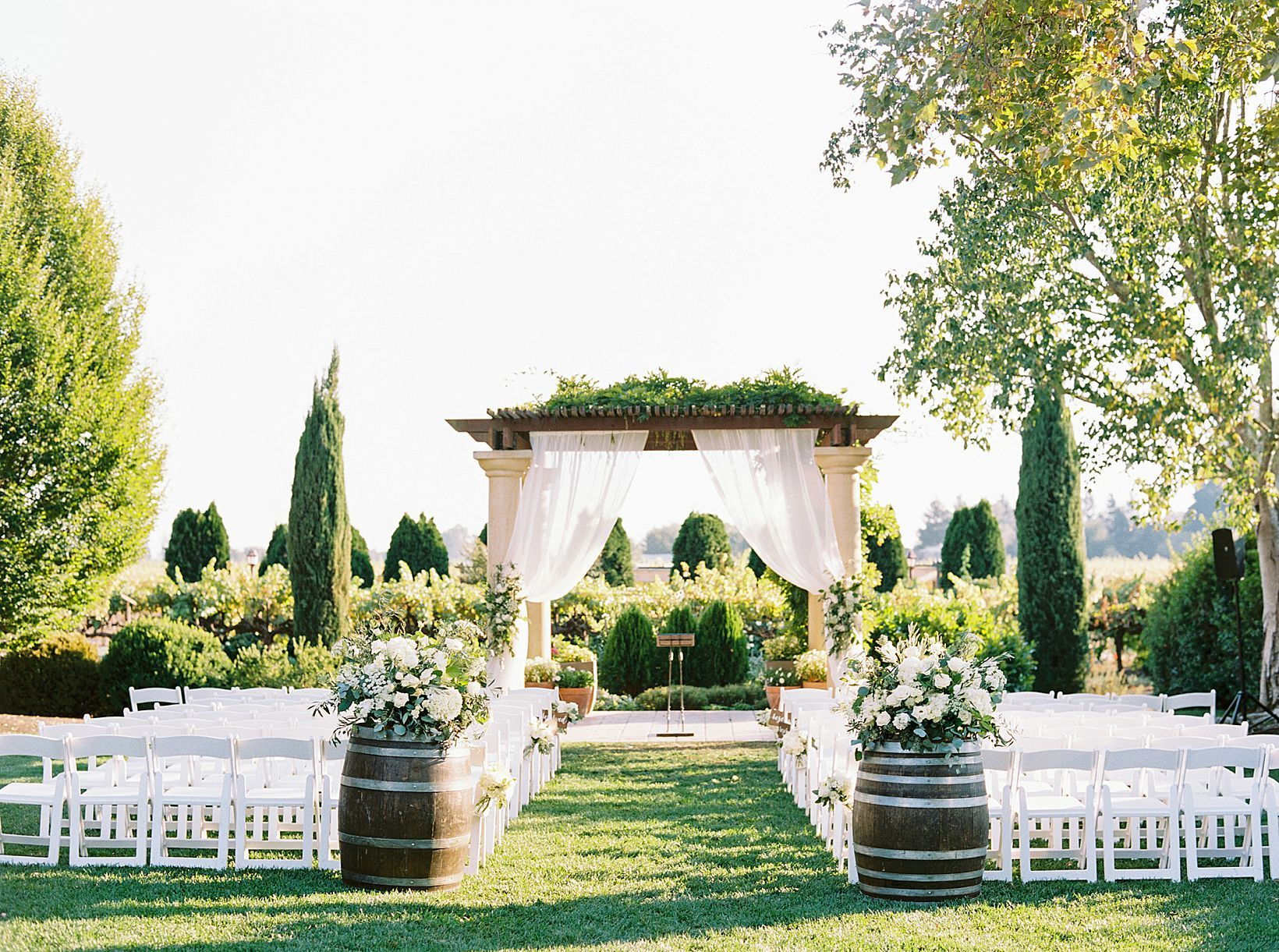 Vintners Inn Wedding With Cambria Events Featured On Style Me Pretty In 2020 Winery Weddings Cambria Wedding Napa Wedding