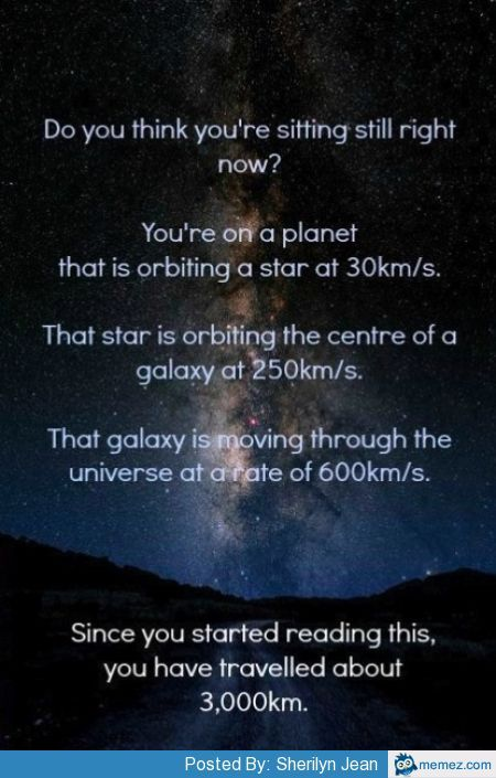 Do you think you're sitting still right now? | Space facts