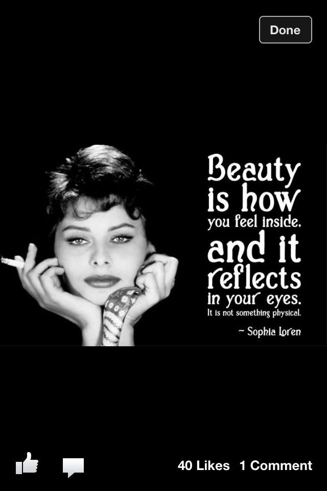 -Sofia Loren | Powerful quotes, Inspirational quotes with ...