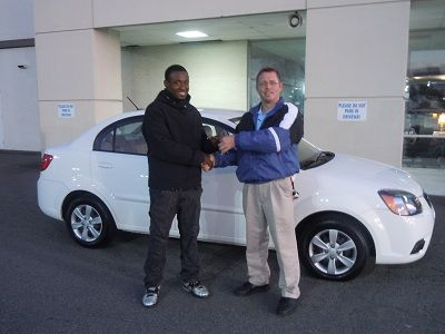Folger Subaru Internet Sales Consultant Ned Howie With Mr Neal And His 2011 Kia Rio Lx Kia Rio Subaru Kia