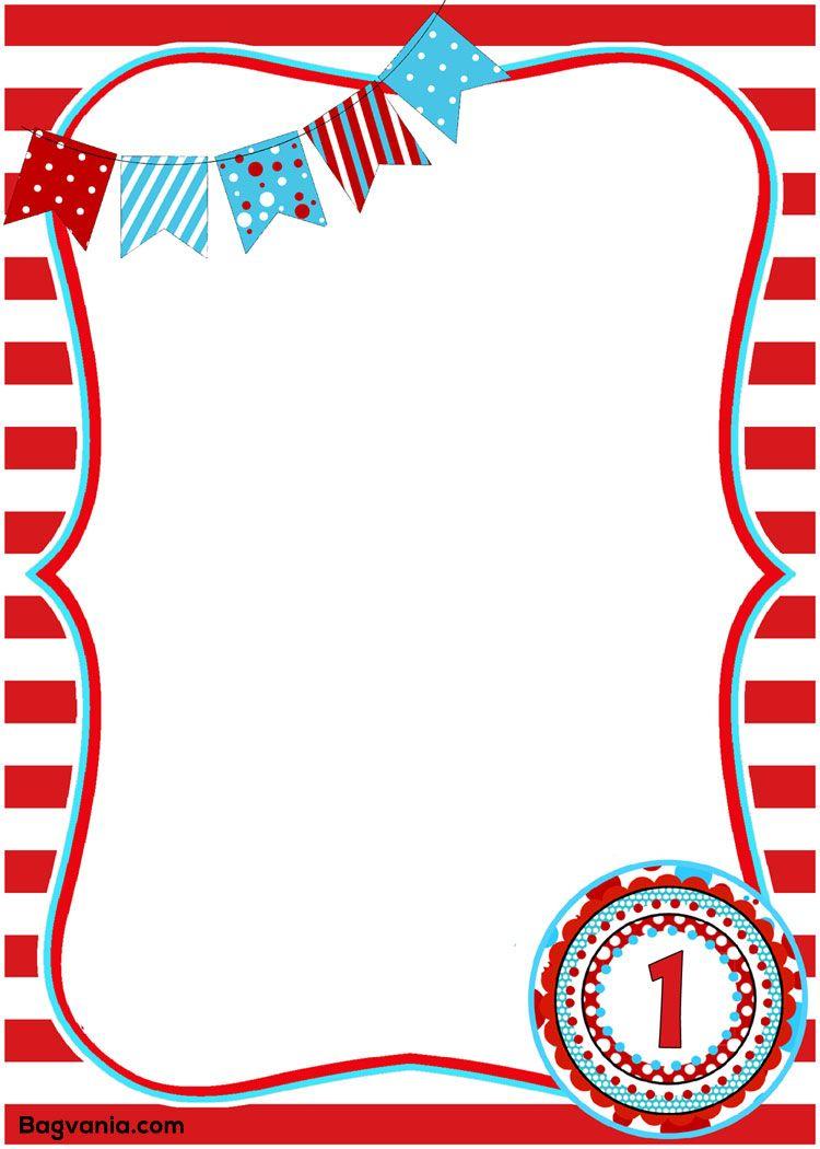 Dr. Seuss Birthday Invitations Printables – Bagvania FREE Printable ...