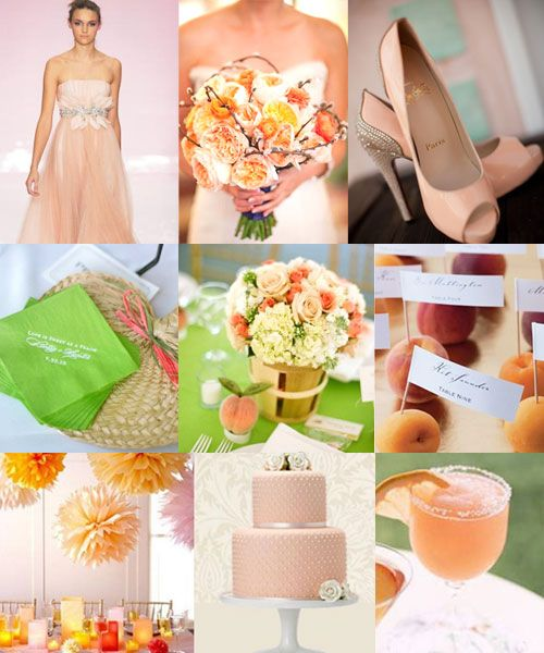 Peach Orange And Green Wedding Themewedding Colours Palette