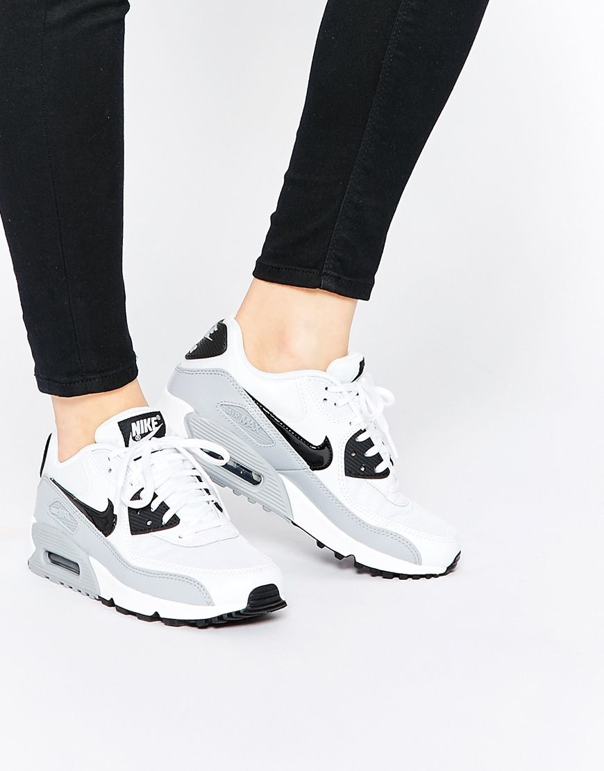 nike air max 90 essential grey womens trainers