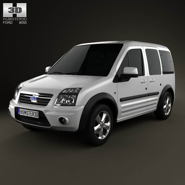 3d Model Of Ford Tourneo Connect Lwb 2012 Coches