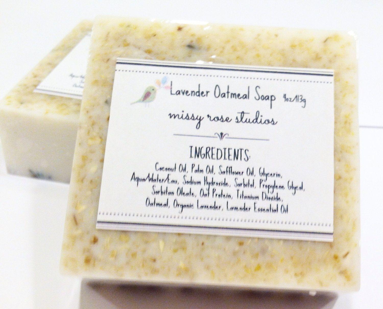 Lavender Soap, Oatmeal Soap, Facial Soap, Coconut Oil Soap