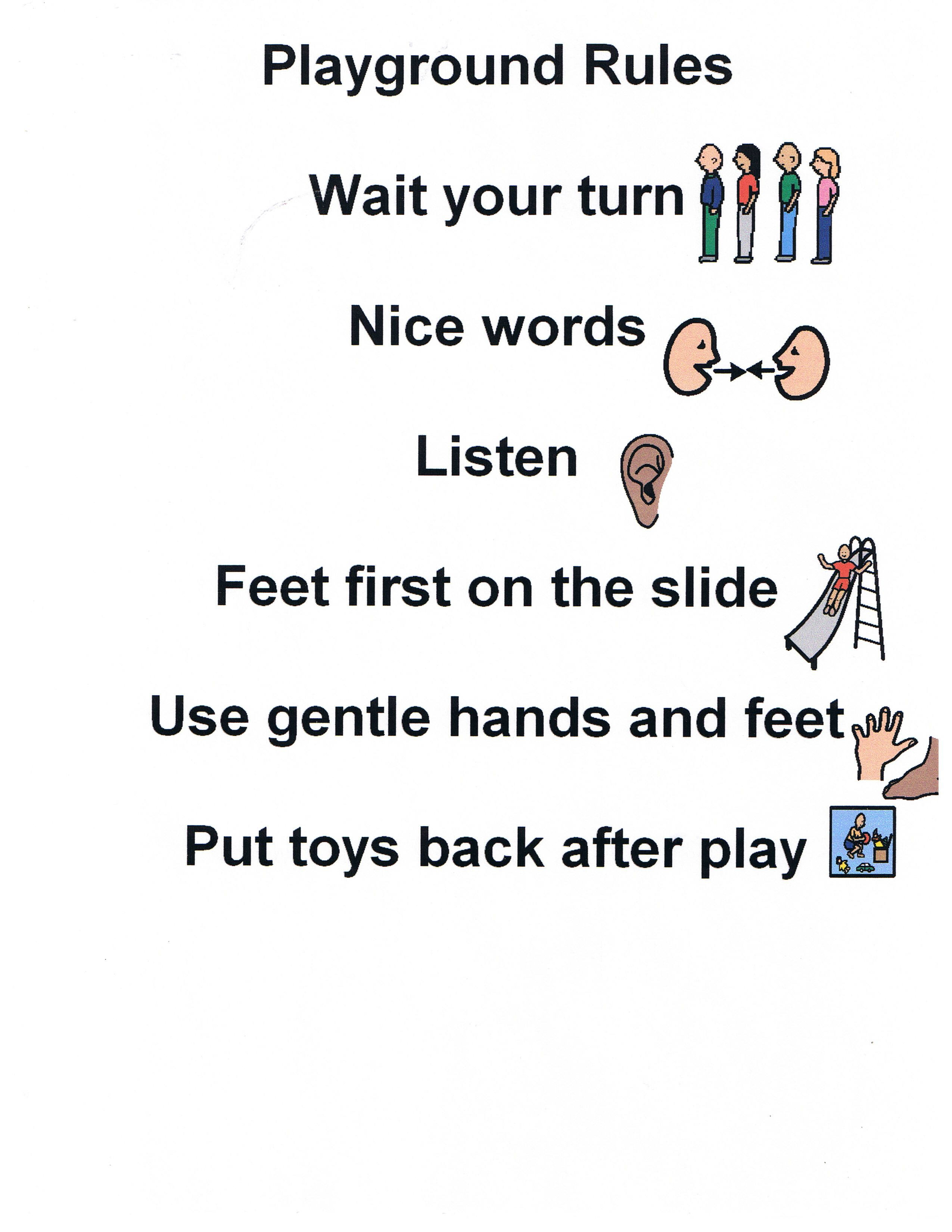 Manage Recess And Develop Children S Skills Without Them Even Knowing Playground Rules Preschool Rules Classroom Charts [ 3300 x 2550 Pixel ]