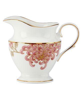 Marchesa by Lenox Dinnerware, Painted Camellia Creamer