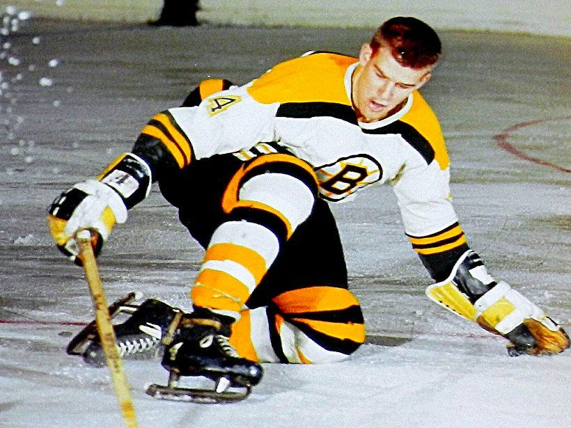 Here's a flashback Bobby Orr. Rookie. BostonBruins. 1966