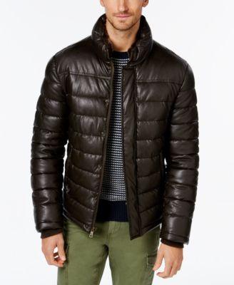 2121e340b499 TOMMY HILFIGER Tommy Hilfiger Men's Faux-Leather Puffer Jacket .  #tommyhilfiger #cloth # coats